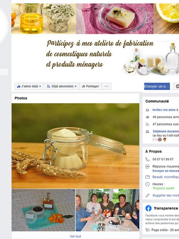 Page pro Facebook - Mes Créations Bio